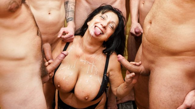 [GrandMams] Booby M (Sperm gangbang with mature Booby M / 12.17.2020)
