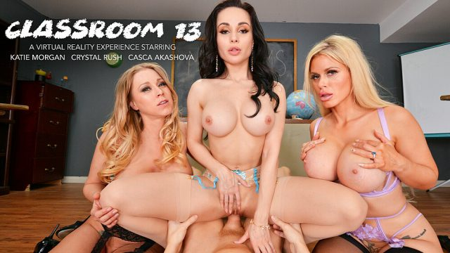 [ClassRoom] Casca Akashova, Crystal Rush, Katie Morgan (MILF Professors Casca Akashova, Crystal Rush, and Katie Morgan motivate a struggling student with their big huge tits and wet pussies / 03.05.2021)