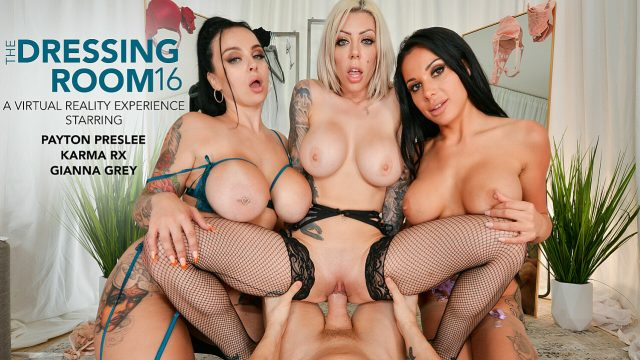 [DressingRoom] Karma Rx, Payton Preslee, Gianna Grey (Lucky guy can't resist cheating on his girlfriend when he helps Gianna Grey, Karma Rx, & Payton Preslee pick out lingerie / 07.23.2021)